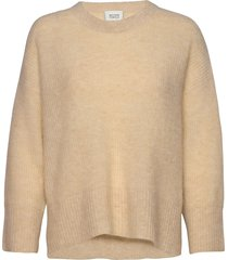 this knit is made from a soft mohair-wool blend. i t has rib stickad tröja beige second female