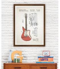 gitara elektrycza fender patent - plakat 50x70 cm