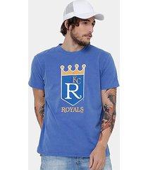 camiseta mlb kansas city royals new era retro masculina