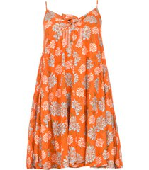 jurk met bloemenprint julia  rood