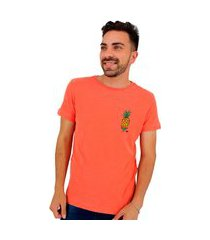 camiseta osklen masculina slim rough naif abacaxi acerola