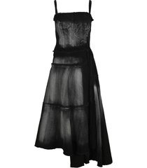 marni acid wash denim dress