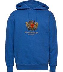 artwork hoodie hoodie trui blauw han kjøbenhavn