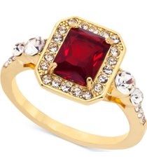 charter club gold-tone stone & crystal statement ring, created for macy's