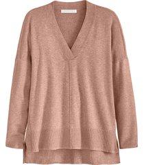 plus size women's adyson parker v-neck tunic, size 1x - brown