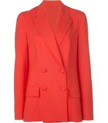 oscar de la renta poppy blazer - red
