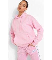 basic overhead hoodie, pink