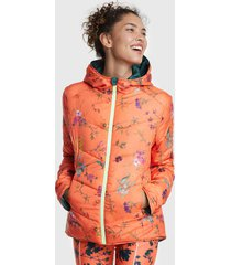 parka desigual reversible padded street gardens multicolor - calce regular