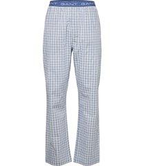 gradient check pajama pants pyjamas blå gant