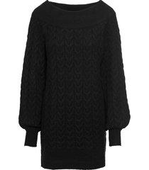 maglione lungo con scollo a barca (nero) - bodyflirt