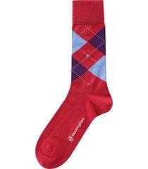 burlington edinburgh socks | red & purple |  21182-8030