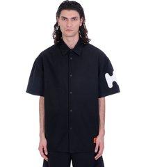 heron preston shirt in black polyester