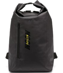 msgm large duffle backpack - black