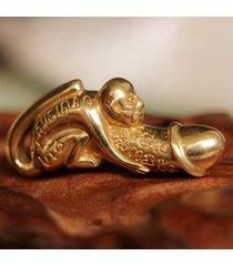 collar paladkik mono suerte amuleto-oro