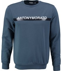 antony morato blauwe stretch sweater
