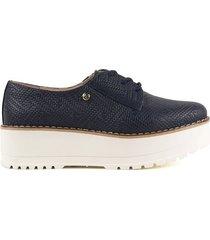 zapato de atadura azul oscuro cosmos