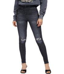 guess kat distressed skinny jeans