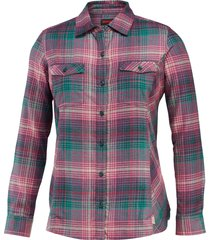 wolverine autumn long sleeve flannel shirt emerald plaid, size s