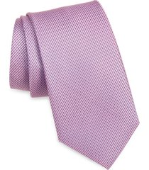 men's nordstrom burgen micro pattern silk tie, size regular - red