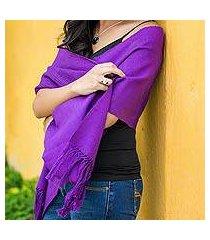 cotton scarf, 'maya orchid' (guatemala)