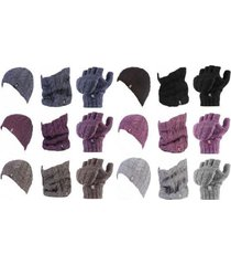 heat holders - womens thermal winter hat neck warmer and converter gloves set