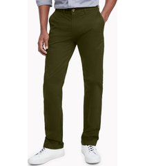 tommy hilfiger men's custom fit essential stretch chino forest - 36/32