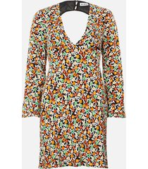 rixo women's sophie mini dress - retro micro floral - l