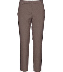 kylie 661 crop tape pantalon met rechte pijpen bruin fiveunits