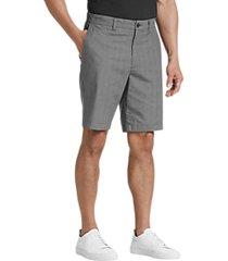 joseph abboud gray plaid modern fit shorts