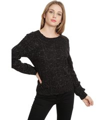 sweater io liso negro - calce regular