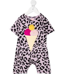 wauw capow by bangbang summertime leopard print romper - purple