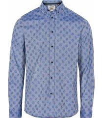 anerkjendt overhemd blauw met print 9220016/3050