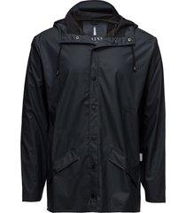 jacket regenkleding zwart rains