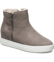 sutton bootie shoes boots ankle boots ankle boots flat heel grå steve madden
