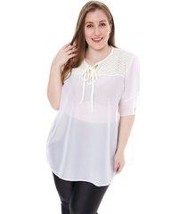 blusa blanco minari gasa broderie