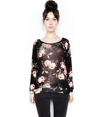 kenny pullover sweater - l peach flower