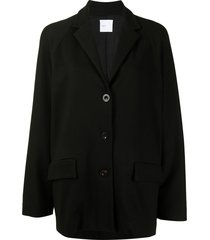 rosetta getty relaxed-fit cocoon blazer - black