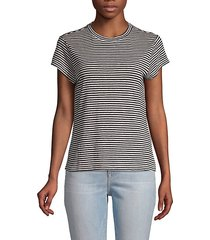 striped short-sleeve linen tee