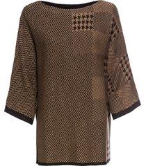maglione jacquard (marrone) - bodyflirt boutique