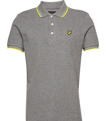 tipped polo shirt polos short-sleeved grå lyle & scott