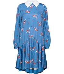 coco printed jurk knielengte blauw custommade
