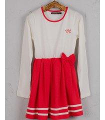 vestido  rojo mapamondo dorotea