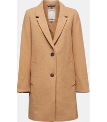 abrigo mujer con lana camel esprit