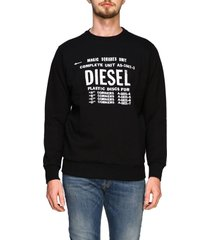 diesel sweater long-sleeved diesel t-shirt with maxi logo print
