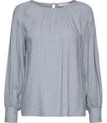 mirnacr blouse blouse lange mouwen blauw cream
