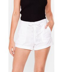 womens truly elastic for you mid-rise shorts - white