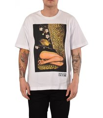 couture t-shirt stampa x rosa burgess