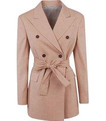 brunello cucinelli tie-waist double-breasted blazer
