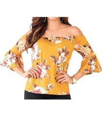 blusa lesley amarillo para mujer croydon