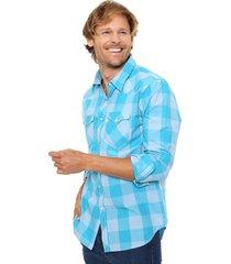 camisa celeste  levi's  classic western - blue- light blue